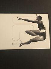 Youn Woman Athlete Fila Footwear & Apparel 1997 Vtg Black History Month Postcard