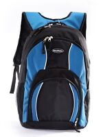 Big brand new laptop computer student school backpack black/blue GT10004