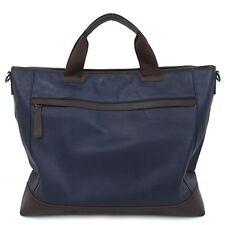 Genuine Leather Man  Briefcase Man Business Bags Man Bags Men's Bag B5055 Navy