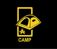 CAMPING Camp Vinyl Decal Car Window Bumper Sticker Rectangle