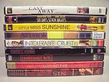Lot of 9 DVD's(Cast Away, Little Miss Sunshine, The Avitor, Original Sin,& more)