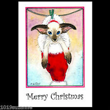 Siamese cat art Christmas cards kitten painting from original by Suzanne Le Good