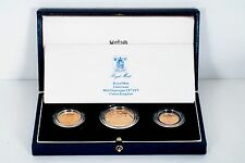 1988 United Kingdom 3 Piece Gold Proof Collection 2 Pound, Sovereign & 1/2 Sov.