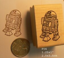 R2D2 lineart rubber stamp P54