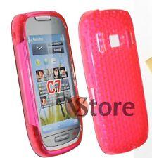 Cover Custodia Per Nokia C7 Silicone Gel TPU Fucsia