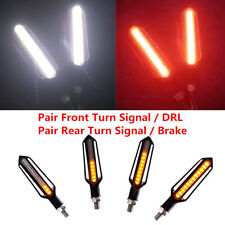 4x 12V Motorcycle Turn Signal Sequential Flowing Indicator Driving + Stop Light