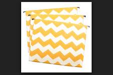 12 Letter Size Hanging File Folders Threshold Yellow Chevron NEW