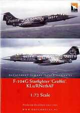 "Dutch Decals 1/72 F-104G STARFIGHTER ""GRAFFITI"" Scheme Dutch Air Force"