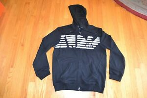 Armani Jeans Men's AJ Eagle Full Zip Hoodie Color: Black Men's Size: Large NWT