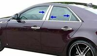 2014-2020 Cadillac CTS 6PC Chrome Pillar Post Stainless Steel Trim Door