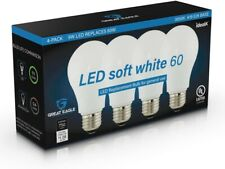 Great Eagle 60W Replacement A19 LED bulb: 2700K/3000K/4000K/5000K (4- or 8-Pack)
