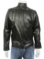 New Men Black Classic Biker Leather Napa Fashions Jacket Bike Rock