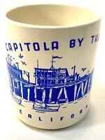 Vintage RARE Capitola By The Sea Wharf California Coffee Cup Mug Very Nice!