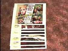 TEENAGE BAD GIRL LOBBY CARD SET '57 EXPLOITATION