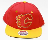 Zephyr-NHL-Calgary Flames Logo Red/Yellow Snapback Hat Red C