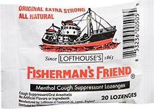 6 Pack Fisherman's Friend Menthol Cough Suppressant Natural 20 Lozenges Each
