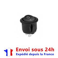 1 pièce 16 mm diamètre interrupteur à bascule rond noir 2 broches marche-arrêt