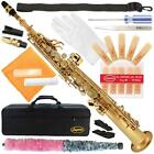 Lazarro® B-Flat Bb Straight Soprano Saxophone Sax+Case,Kit~4 Students,School