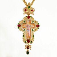 Croix Pectorale Grèce Crucifix Icône Religieuse Art Byzantin Et Tradition Orthod