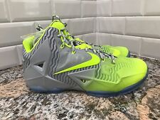 Nike Lebron 11 XI Collection Silver Volt Ice Basketball Shoes SZ 12 683252-074