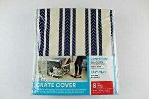 "New! You & Me Crate Cover Small Navy Striped Fits 24.25""L x 17.75""W x 18.25""H"