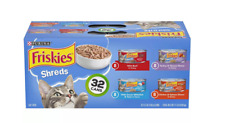 New Purina Friskies Shreds Variety Pack Wet Cat Food 32 Cans - 5.5oz