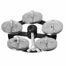 Percussion Hi-Hat Cymbal with Single Row Metal Jingles Drum Set Accessory