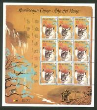 URUGUAY 2016 CHINA NEW MONKEY YEAR HOROSCOP ASTROLOGY FULL MINISHEET MNH