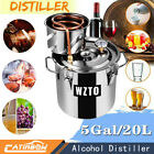 Moonshine 5Gal20L Stainless Water Alcohol Distiller Copper Tube Home Brewing Kit