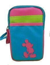 "Disney Parks 6"" Mickey Mouse Mini Cellphone Crossbody Bag D-Tech Neon Bounding"