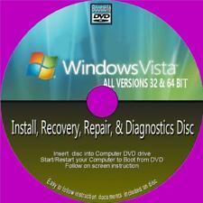 Ripristino installazione di Windows Vista recuperare Riparazione PCDVD tutti i 32/64 bit NUOVO TUTTE LE VERSIONI