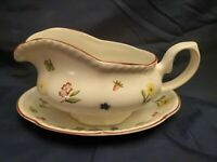 JOHNSON BROTHERS England FLEURETTE Gravy Boat & Seperate Underplate/Relish Dish