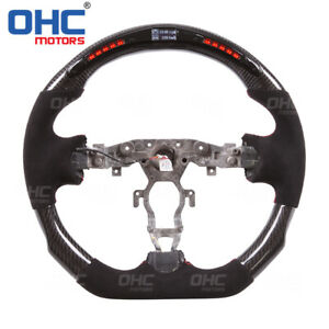 LED Performance Steering Wheel for Nissan 370Z /LED Racing+Real Carbon Fiber