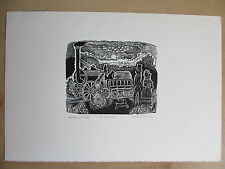 John O' Connor. Wood-engraving, signed, of The Rocket, Artists proof