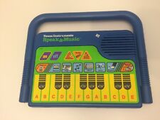 "Vtg ""Speak and Music"" Learning Game Toy By Texas Instruments"