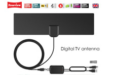 UK Freeview Digital TV Indoor Aerial DVB-T TV with USB Signal Booster/Amplifier