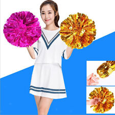 12'' Metallic Cheerleader Pom Poms Cheering Squad Spirited Cheerleading Pompoms