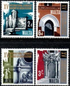 (Ref-13472) Malta 1967 Historical Architecture Congress  SG.389/392 Mint (MNH)