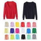 Women's Cardigans Long Sleeve Casual V-Neck Sweater Coat BG