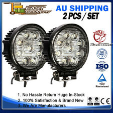 """2 SET 5"""" 27W LED Work Fog Lamps Spot Offroad Fog Round SUV Driving Light WRE27DS"""