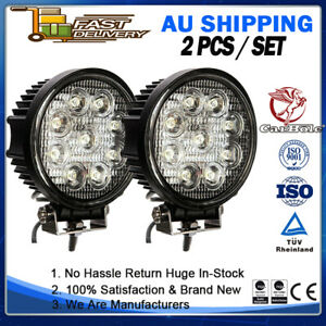 "2 SET 5"" 27W LED Work Fog Lamps Spot Offroad Fog Round SUV Driving Light WRE27DS"