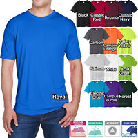 Big Mens Moisture Wicking T-Shirt 100% Poly With Soft Cotton Feel Dri Fit XL-6XL