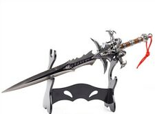 30CM High Quality Alloy Frostmourne Sword Inlaid Blue Diamond, WOW Lich King