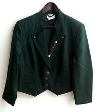 Damen Trachten Janker Jacke grün m. Stickerei Gr. 44 v. Peter Hahn
