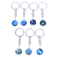 1pc lumineux  porte-clés boule de verre planète cristal étoile porte-clé modTRF