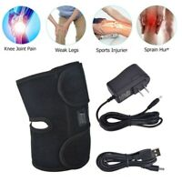 Electric Knee Heating Pad Brace Massage Therapy Pain Relief Warming Wrap Therapy