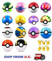 13x Pokemon pikachu Pokeball Cosplay Pop-up Master Great Ultra poke Ball Toy USA