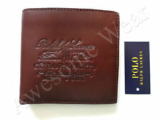 New Ralph Lauren Polo Brown Leather New York  Logo Bifold Wallet