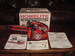 Vintage Homelite XL Chainsaw + Owners/Service Manuals Brand New NIB Mint In Box