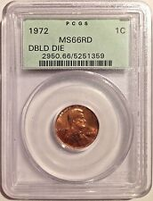 *1972 Doubled Die Lincoln Cent, PCGS MS66 RED Penny, OGH*